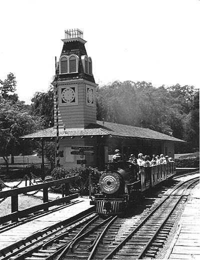 The railroad first opened in Oak Meadow Park in 1970 Photo Courtesy of Robert Turner